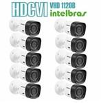 Kit 10 Câmeras com Infravermelho Intelbras Multi HD Vhd 1120b G4 Lente 3.6 720p Branca