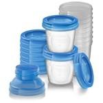 Kit 10 Potes para Armazenamento de Leite Materno Philips Avent