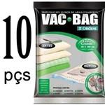 Kit 10 Saco Vácuo Extra Grande Organizador Vac Bag 80 X 100