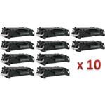 Kit 10 Toner Similares HP 80A CF280A Compativel LaserJet Pro 400 M401 M401a M401n M401dn M401dw M425 M425dn M425dw MFP (CF286A)