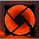 Kit 10 Un. Cooler Fan 120mm com Led Dx-12f-laranja