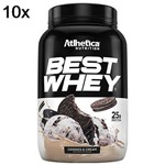 Kit 10X Best Whey - 900g Cookies & Cream - Atlhetica Nutrition