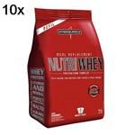 Kit 10X Nutri Whey Protein - 907g Refil Morango - IntegralMédica
