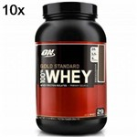 Kit 10X Whey Protein 100% Gold Standard - 909g Baunilha - Optimum Nutrition