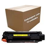 Kit 15 Toners Compatível/alternativo para Hp P1102w Cb435a Cb436a Ce285a Ce278