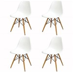 Kit 4 Cadeira Eames Wood Branca PP OR Design 1102B