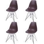 Kit 4 Cadeiras Eames Eiffel Café PP OR Design 1102