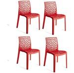 Kit 4 Cadeiras Gruvyer Vermelha OR Design