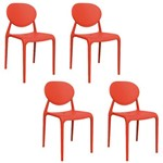 Kit 4 Cadeiras Slick Vermelho