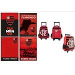 Kit 4 Cadernos Espiral Flamengo 96 Folhas e Mochila Flamengo