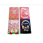 Kit 4 Cadernos Espiral K-pop 96 Folhas - Foroni