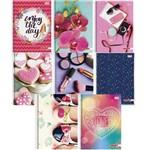 Kit 4 Cadernos Universitário Mais+ Feminino 96 Folhas 1 Matéria