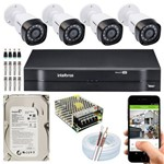 Kit 4 Câmeras Intelbras Muti HD Vhd 1010b Dvr Mhdx 1004
