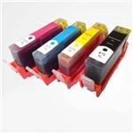 Kit 4 Cartuchos de Tinta Similares HP 670XL CZ117AB CZ118AB CZ119AB CZ120AB Compativel HP Deskjet Ink Advantage 3525 4615 4625 5525 6525