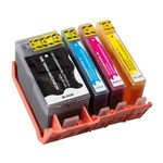 Kit 4 Cartuchos de Tinta Similares HP 934XL Preto 935XL Coloridos Compativel HP Officejet Pro 6230 6830