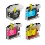 Kit 4 Cartuchos Tinta LC505 LC509 LC525 LC529 LC535 LC539 LC545 LC549 Compativel Dcp-j100 Dcp-j105
