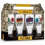 Kit 4 Copos Munich Cervejas Pelo Mundo 200ml