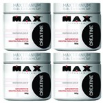 KIT 4 CREATINA 100g - MAX TITANIUM - Aminoácido - Massa Muscular