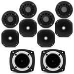 Kit 4 Driver + 4 Cornetas + 2 Super Tweeter Orion 720w Rms