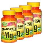 Kit 4 Magnésio Quelato 60 Capsulas - 240 Capsulas
