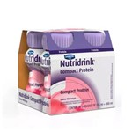 Kit 4 Nutridrink Compact Protein Morango 125ml