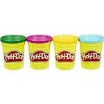 Kit 4 Potes de Massinha Play-doh - Cores Secundarias
