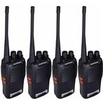 Kit 4 Radio Comunicador 777s 16 Canais Profissional Ht Uhf