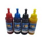 Kit 4 Tinta Refil para Bulk Ink Tanque de Tinta Epson Sublimática 100ml Chinamate