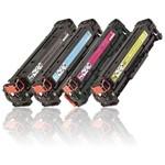 Kit 4 Toner Compatível Hp 304a Cc530a Cc531 Cc532 Cc533 Cmyk - Hp Cp2025 Cm2320 Cp2025dn Cm2320nf