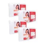 Kit 4 Travesseiros de Espuma Aditivada Elax Plus Fibrasca 4295