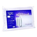 Travesseiro Duoflex Altura Regulável RE1103+Capa Imperm