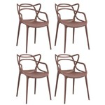 KIT - 4 X Cadeiras Masters Allegra - Marrom
