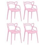 KIT - 4 X Cadeiras Masters Allegra - Rosa