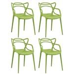 KIT - 4 X Cadeiras Masters Allegra - Verde Claro