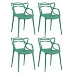 KIT - 4 X Cadeiras Masters Allegra - Verde Escuro