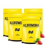 Kit 4x Albumina 500gr = 2kg - Naturovos (sabor: Morango)
