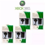 Kit 4x Baterias + 4x Cabos Carregadores P/ Controle Xbox360