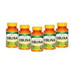 Kit 5 Colina Unilife Vitamina B8 60 Cápsulas