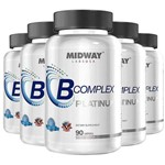 Kit 5 Complexo B Midway 90 Tablets