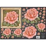 Papel Decoupage Rosas Salmao Dfg393n By Mamiko - Toke e Crie