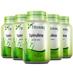 Kit 5 Spirulina 450mg 300 Capsulas