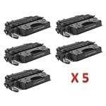 Kit 5 Toner Similares HP 05X CE505X Compativel HP LaserJet P2050 P2055 P2055D P2055DN P2055X