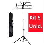 Kit 5 Un Estante para Partitura Smart Sm-006 Desmontável com Bag