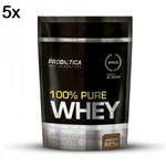 Kit 5X 100% Pure Whey - 825g Refil Chocolate - Probiotica