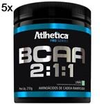 Kit 5X BCAA 2:1:1 Pro Series - 210g Limão - Atlhetica Nutrition