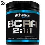Kit 5X BCAA 2:1:1 Pro Series - 210g Tangerina - Atlhetica Nutrition