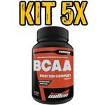 Kit 5x Bcaa Premium Series Pote 120 Tabletes