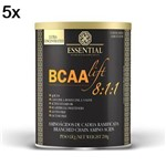 Kit 5X BCAALIFT 8:1:1 - 210g Limão - Essential Nutrition