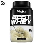 Kit 5X Best Whey - 900g Vanilla Cream - Atlhetica Nutrition