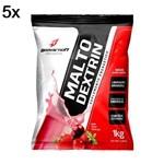 Kit 5X Malto Dextrin - 1000g Refil Frutas Vermelhas - BodyAction